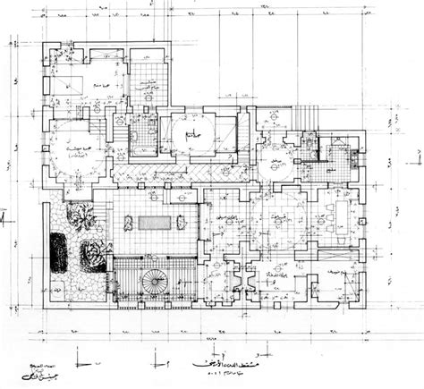 working drawing floor plan akil sami house working drawing ground floor plan archnet