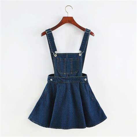 quot detachable denim quot overall skirt so aesthetic