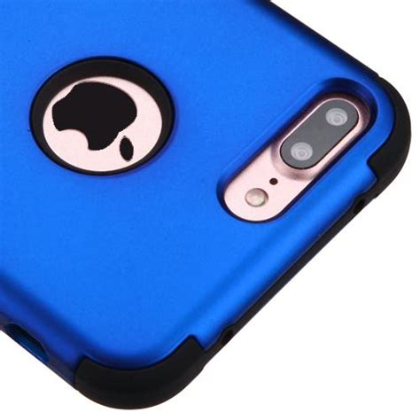 apple iphone   titanium dark blueblack hybrid case