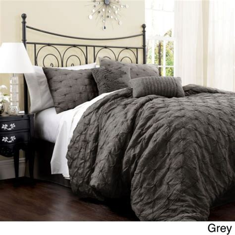 king size grey comforter set beautiful rich elegant 7 pc modern brown gold bronze