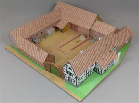 1000 Images About Papercraft Houses On Model - papermau mondorf giesenshof house paper model in 1 100