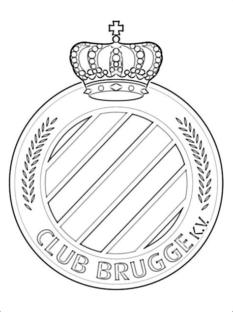 Club Brugge K.V. logo coloring page | Coloring pages