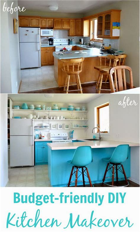 the 159 kitchen makeover revealed 80 s before and after 25 budget friendly kitchen makeover
