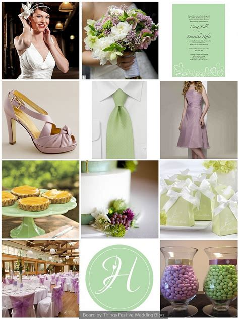 spring wedding color palette antique lilac and mint