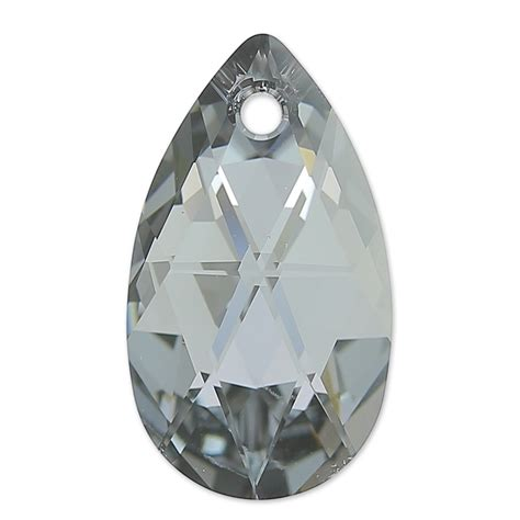 swarovski drop swarovski tear drop 6106 22mm light chrome x1