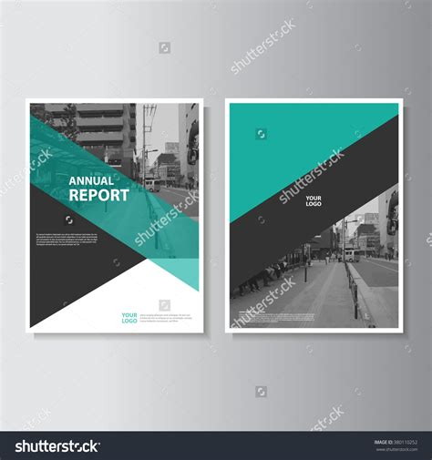 free report cover page design templates green annual report leaflet brochure flyer template a4