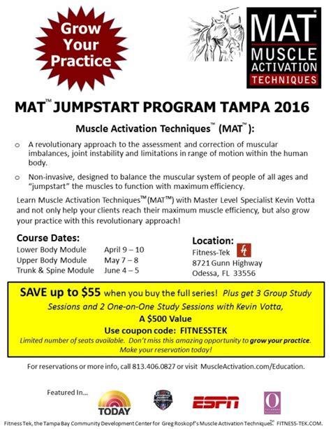 1 Year Mat Programs - mat jumpstart program comes to ta bay