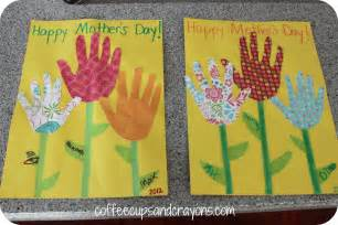 s day card and a money flower coffee cups and crayons