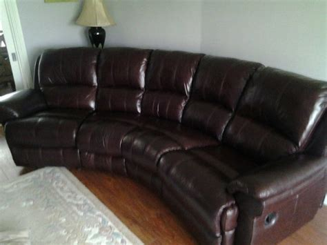 Curved Leather Sofas For Sale Four Seater Curved Leather Sofa With A One Seater For Sale In Swords Dublin From Keaveja