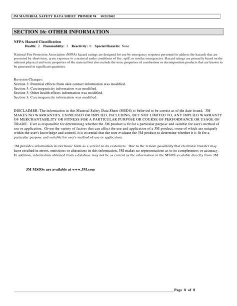 msds section 8 msds doc