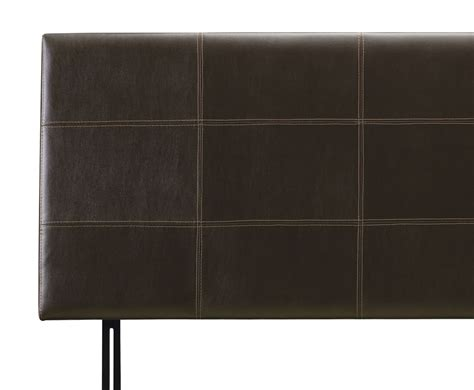 headboard leather helios brown faux leather headboard