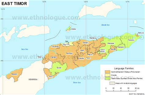east timor maps east timor ethnologue