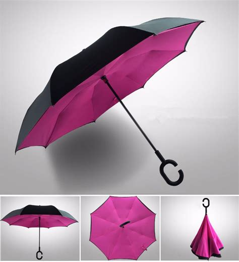 Payung Desain Elegan Motif Kulit Ular Black payung terbalik layer gagang c glossy black