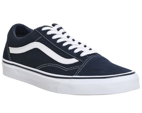 Vans Oldskool Navy Blue Premium vans skool dress blue white unisex sports