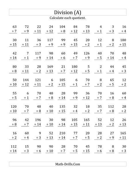 free printable worksheets on division facts division fact worksheet free worksheets library download