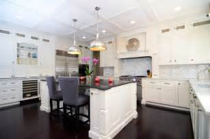 Shiloh Kitchen Cabinets Open Plan Soft White Cabinets Contrasting Dark Floors