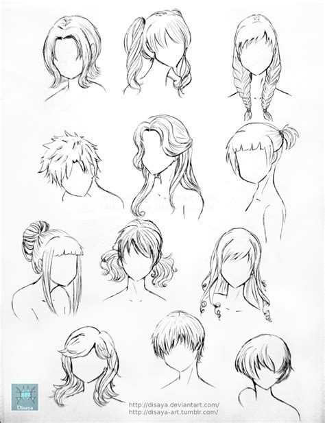 tutorial menggambar oc hair reference 1 by disaya on deviantart