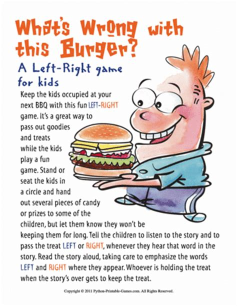 Whats Right With This Picture by Bbq Left Right Printable