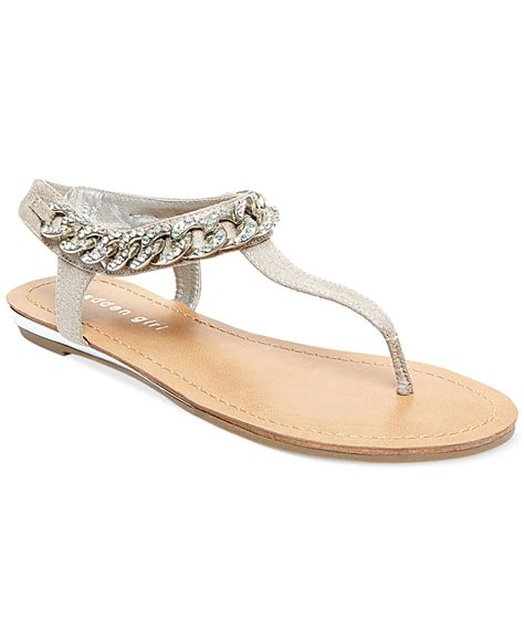 Flat Sandals Thongs Triset Shoes madden classic t chain flat sandals in
