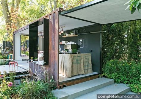 shipping container garden designer gardens contained style completehome