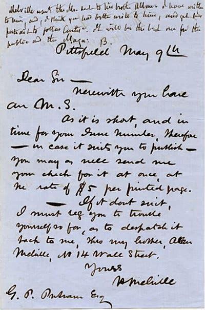 Rejection Letter Manuscript melville rejected memeteria