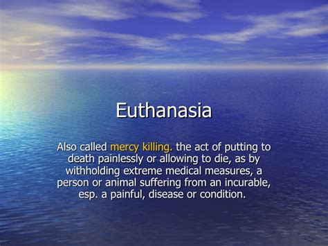 Euthanasia Thesis Statements by Euthanasia Thesis Statement Exles