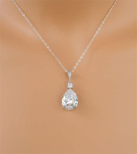 crystals for jewelry bridal necklace wedding pendant