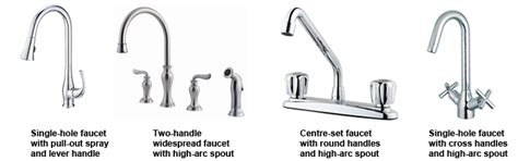 different types of kitchen faucets kitchen faucets buyer s guides rona rona