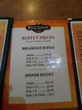 buffet prices buffet prices picture of wilderness resort wisconsin dells tripadvisor