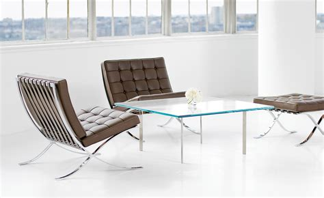 mies der rohe couchtisch barcelona chair polished stainless hivemodern