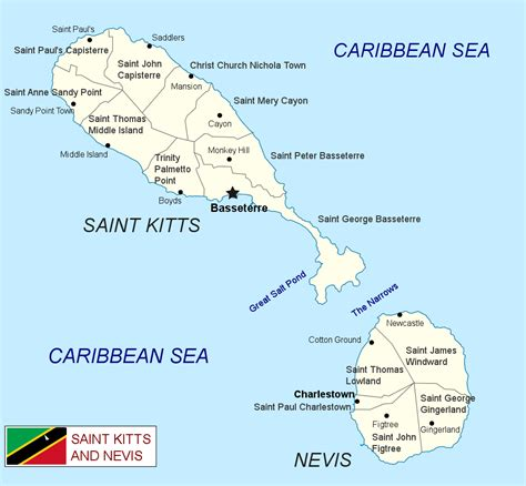st kitts and nevis map kitts and nevis communities map