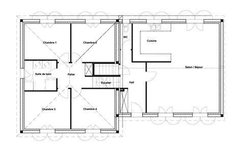 plan maison à étage 4 chambres plan maison 4 chambres plan maison plain pied moderne