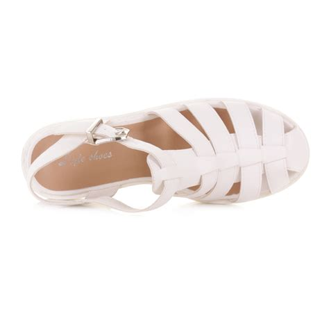 white sandals womens womens white gladiator strappy fisherman sandals