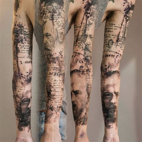 hard work tattoo designs 70 eye catching sleeve tattoos skin colors