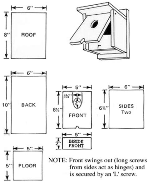swallow house plans bird house plans