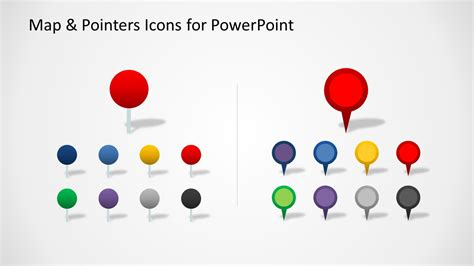 editable map amp pointers icons for powerpoint slidemodel