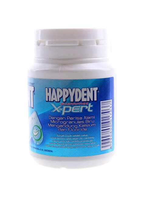 Happydent X Pert Peppermint 56g by Happydent Chewing Gum X Pert Peppermint Btl 56g