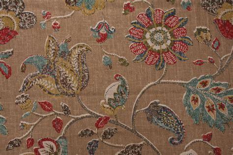 robert allen drapery 1 yards robert allen spring mix printed linen blend