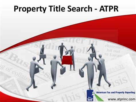 property title search services atpr