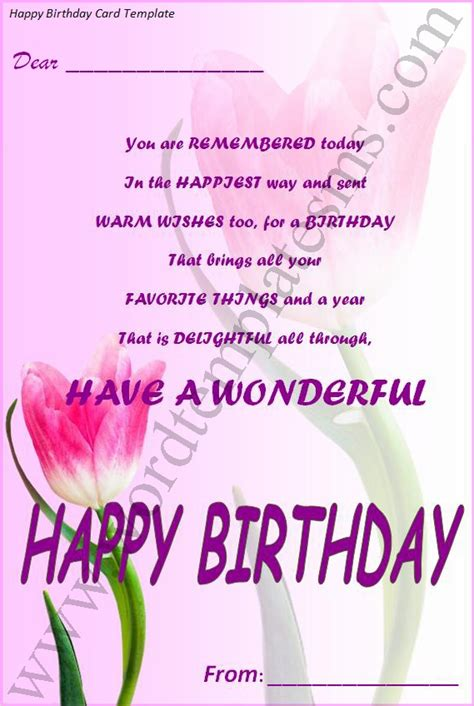 word 2010 birthday card template 15 happy birthday template word images happy birthday