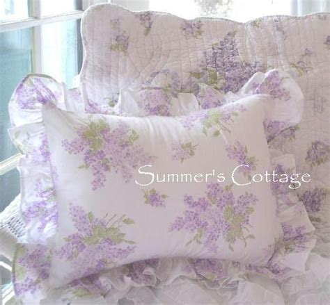 shabby chic pillow shams shabby chic ashwell lavender lilac ruffled pillow sham