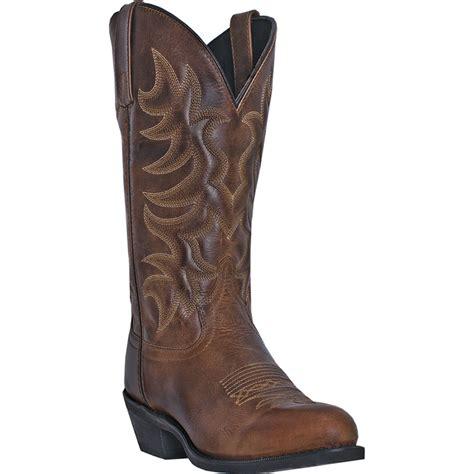 mens laredo cowboy boots laredo mens brown waxy leather pinehurst 12 quot r toe cowboy