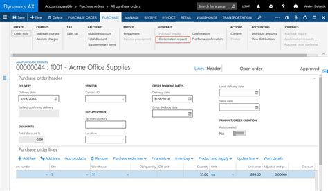 Purchase Order Letter For Vendors dynamics ax vendor portal ax7 microsoft dynamics ax