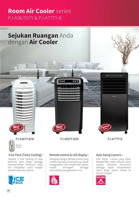Air Cooler Sharp Pj A36ty sharp pj a36ty w air cooler putih lazada indonesia