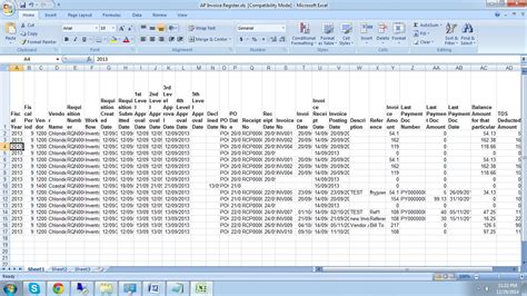 format excel year ap invoice register sage 300 erp tips tricks and