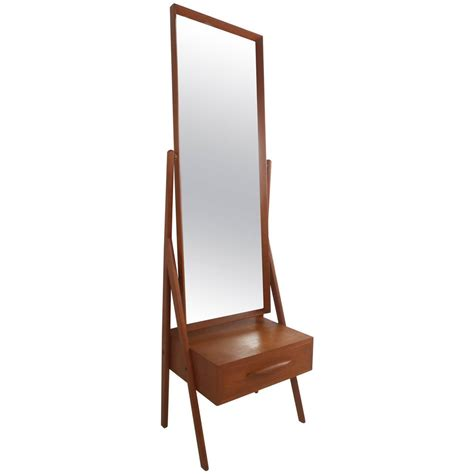 mid century modern mirrors mid century modern arne vodder teak cheval dressing mirror