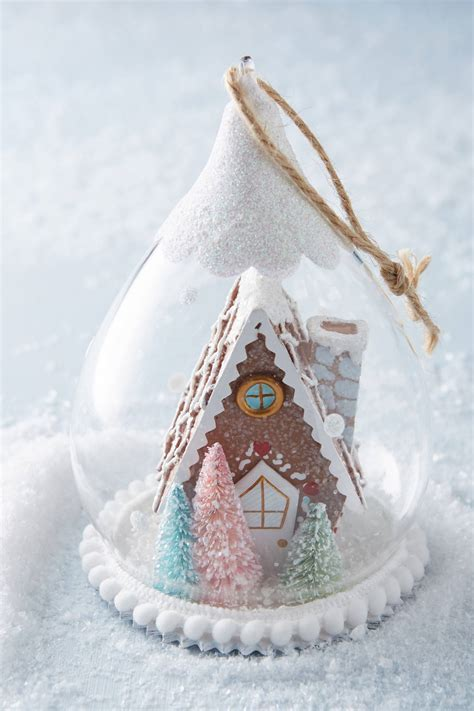 gingerbread snow globe ornament anthropologie