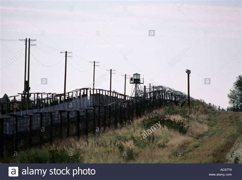 Iron Curtain Austrian Czech Border Fence At Gmund 1989 The