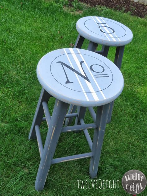 chalk paint shabby industrial kitchen stools