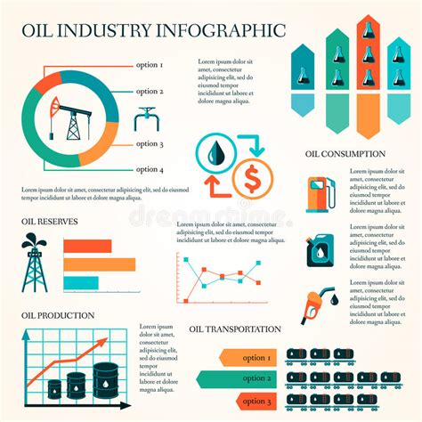 graphic design layout rates oil production infographics stock vector illustration of